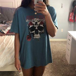 guns and roses oversized t-shirt